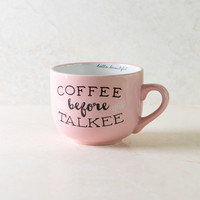 Coffee Talkee Pink Coffee Mug
