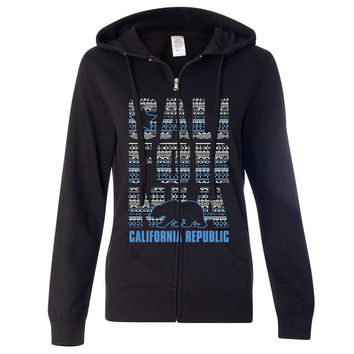 California Republic Tribal Aztec Ladies Zip-Up Hoodie