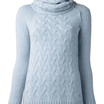 Loro Piana woven knit sweater