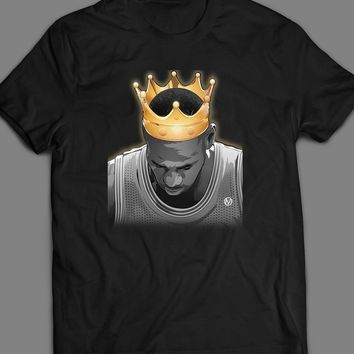 "LAKER'S LEBRON JAMES ""THE KING"" CUSTOM ART T-SHIRT"