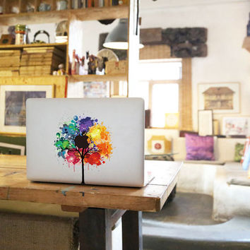 Tree Decal for Macbook Pro, Air or Ipad Stickers Macbook Decals Apple Decal for Macbook Pro / Macbook Air