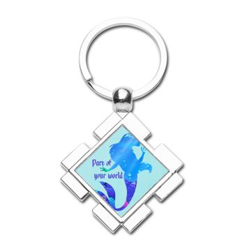 Part Of Your World Diamond Keychain - Diamond Keychain