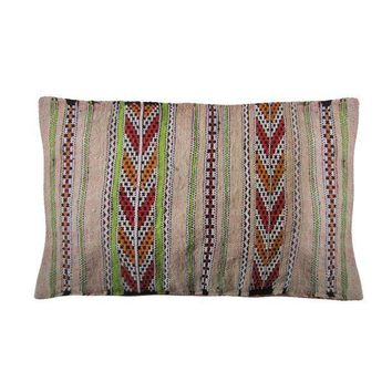Pre-owned Striped Moroccan Berber Pillow