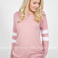 Dusty Rose Laid Back Tunic Top