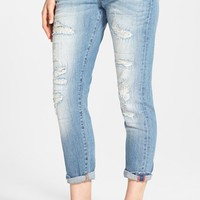 Women's Lucky Brand 'Sienna' Destroyed Stretch Ankle Jeans ,