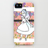 it's all in your head alice iPhone & iPod Case by Sara Eshak