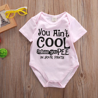 summer bodysuit Newborn Toddler Baby Girls Cotton Bodysuit letter printed Outfit Clothes 0-18M