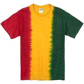 Yoga Clothing for You Mens Rasta Tie Dye T-Shirt - No Print