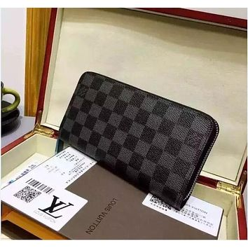 LOUIS VUITTON WOMEN LEATHER PURSE CLUTCH WALLETS
