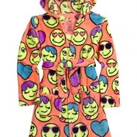 Emoji Fleece Robe | Girls {category} {parent_category} | Shop Justice