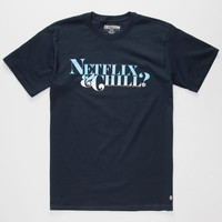 Destorm Netflix & Chill Mens T-Shirt Navy  In Sizes