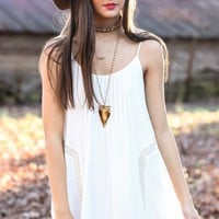 She's A Good Girl Dress-White