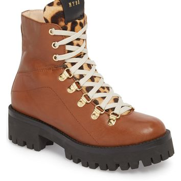 Steve Madden Boom Hiker Boot with Genuine Calf Hair (Women) | Nordstrom