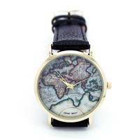 World map watch (4 colors)