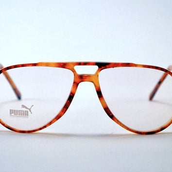 Vintage 80s Super Chic PUMA Tortoise Shell Aviator/Trucker Frames - Hip Hop Urban Club Glasses