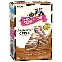 Skinny Cow Heavenly Crisp Milk Chocolate Candy, 6 bars, net wt 4.65 Oz
