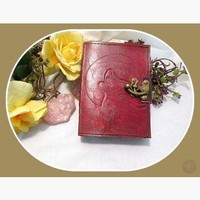 Howling At The Moon Latched Leather Journal