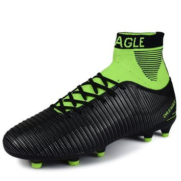 Football shoes for men high cleats soccer original With Socks Professional Football Boot FOOTBALL WITH ANKLE BOOTS
