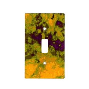 Purple Green Pumpkin Colorful Vibrant Switch Plate Covers