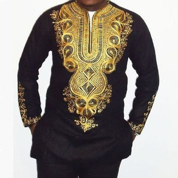 Men's Casual African Print Dashiki