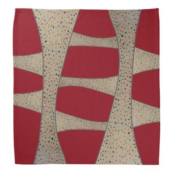 Red Polka Dots Pattern Bandana
