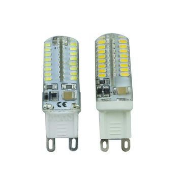 Kitop 1Pcs Mini G9 Corn Bulb 3014 SMD Lamp LED Light 220V 6W 64LEDs Best quality Silicone Crystal Chandelier COB Lighting