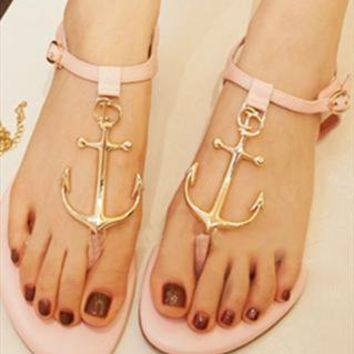 Pink Pattern Sandals from BAIANSY
