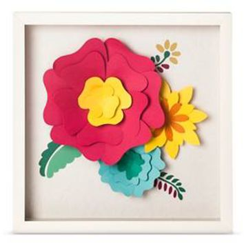 "3D Flowers Framed Art (14.5""x14.5) - Pillowfort™ : Target"
