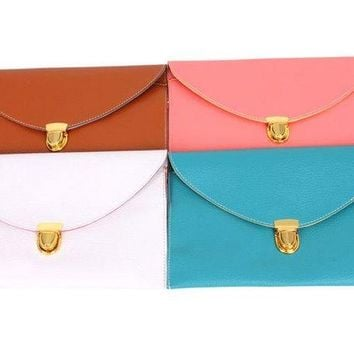 Gold Lock Classic Clutch - Multiple Colours