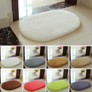 Absorbent Soft Memory Foam Bath Bathroom Bedroom Floor Shower Mat Rug Non-slip