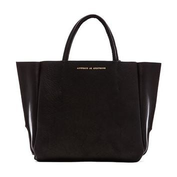 AMPERSAND AS APOSTROPHE Buffalo Half Tote in Black