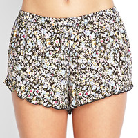 Ruffled Floral Tap Shorts