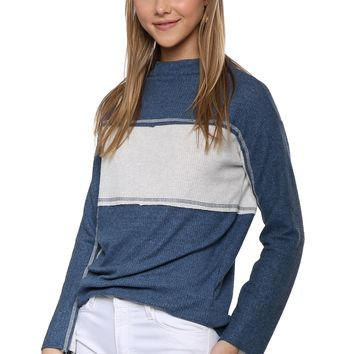 Jac Parker Mock Neck Contrast Top