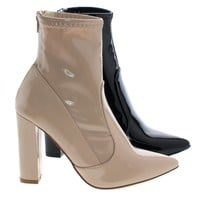 Eloise1 By Liliana, Ankle Booties On Block High Heel Dress Boots