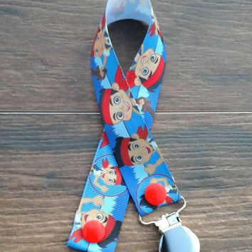 Jake and the Neverland Pirates Pacifier Clip/Paci Clip/Teething Ring Holder/Toy Clip/Pirates Pacifier Clip/Pirate Baby/Disney Baby/Baby Boy