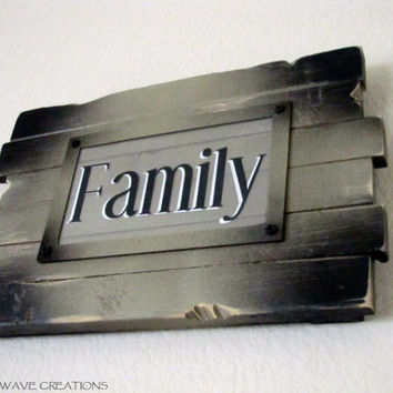 Family, Wooden Hanging Sign Art - Distressed, Rustic