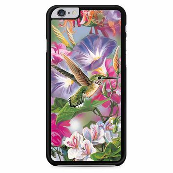 Hummingbirds And Flowers iPhone 6 Plus / 6S Plus Case