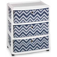 Homz Wide Cart with 3 Fabric Drawers, Set of 1 - Walmart.com