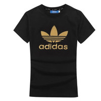 """Adidas""Casual Pattern Letter Print Short Sleeve Couple T-shirt Shirt Top Tee"