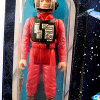 Vintage Star Wars Return of the Jedi B-WING PILOT Kenner 1984 Action Figure 79 Back Mint on Original Display Card  Box Endor Blaster
