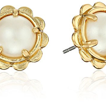 "kate spade new york ""Kate Spade Earrings"" Scalloped Edge Stud Earrings"