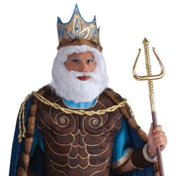 King Neptune Wig Costume Accessory Adult Halloween
