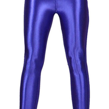 Blue Shiny Disco Pants Design 626