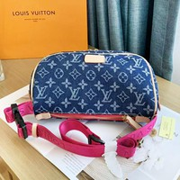 Louis Vuitton LV New Fashion Monogram Print Leisure Shoulder Bag Women