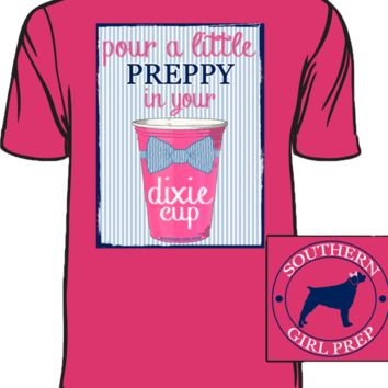 HOT PINK PREPPY DIXIE CUP SHORT SLEEVE T-SHIRT BY SOUTHERN GIRL PREP