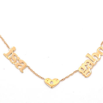 14 KT Name Necklace with Symbol