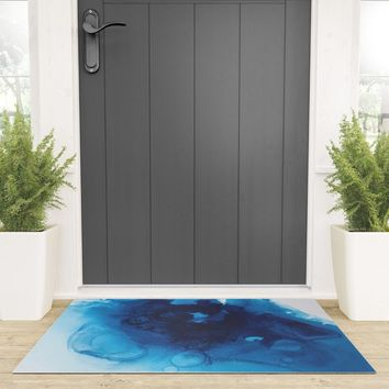 Vishuddha (Throat Chakra) Welcome Mat by duckyb