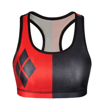 3D Geometric Print Gym Yoga Vest Sports Bra [6533728583]
