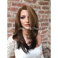 Perfect highlights lace front wig 12""