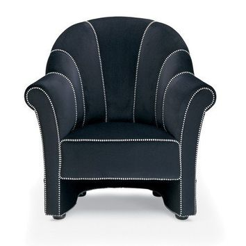 Josef Hoffmann Velvet Club Chair